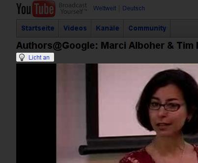 Licht aus bei YouTube.com
