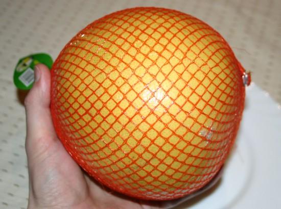 Honig Pomelo Schälen Essen