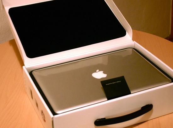 MacBook Packung Lasche