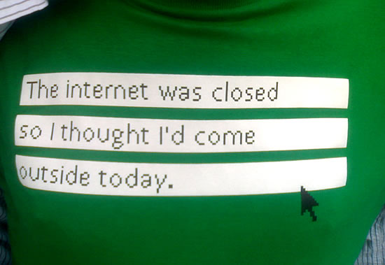 The internet was closed