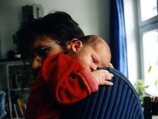 Meine Tochter und ich irgendwann im Jahr 2003
