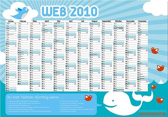 Twitter-Sucht Kalender 2010 von druckerei.de