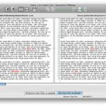 DiffMerge Vergleich von 2 Texten