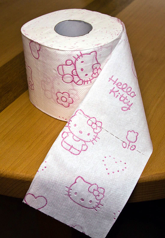 Hello Kitty Toilettenpapier Rolle