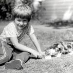 Kinderbild mit Katze