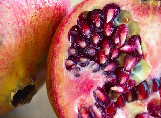 Granatapfel Samen im Fruchtfleisch