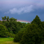 Regenbogen am Horizont