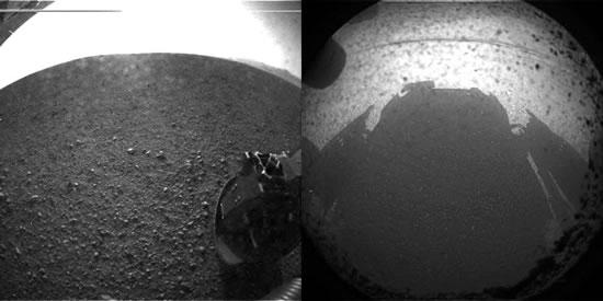 Mars-Rover Curiosity gelandet (Foto: NASA/JPL-Caltech)