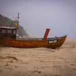 Fischerboot auf dem Strand in Bansin (Usedom)