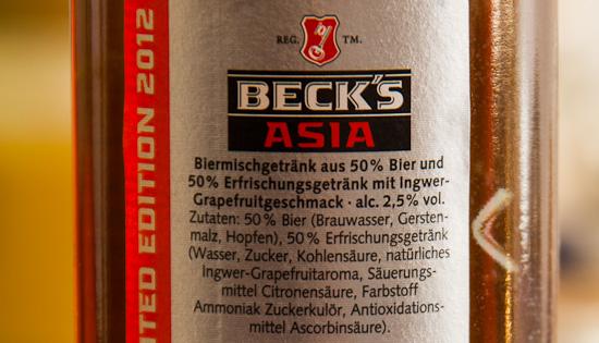 Beck's Asia Zutaten