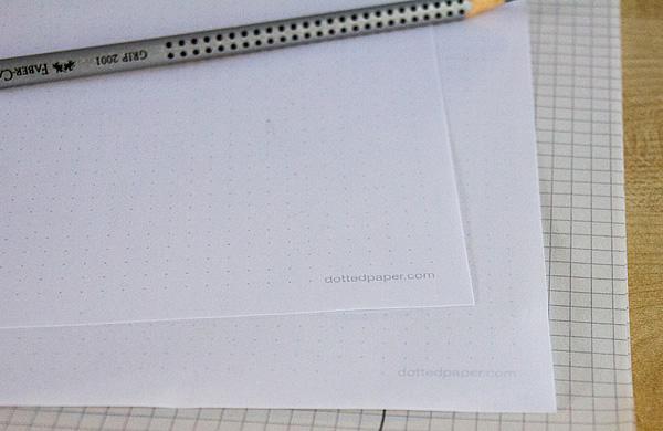 Gepunktetes Papier (Vorlage)