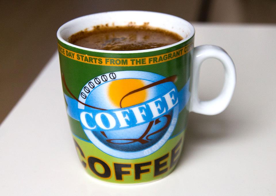 Kaffeetasse grün Nice Day
