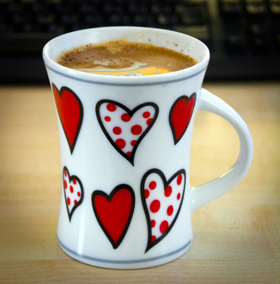 Kaffeetasse: Herztasse