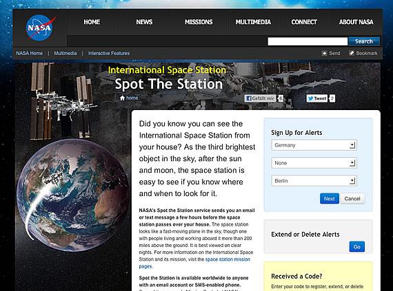 Nasa Benachrichtigung Spot The Station