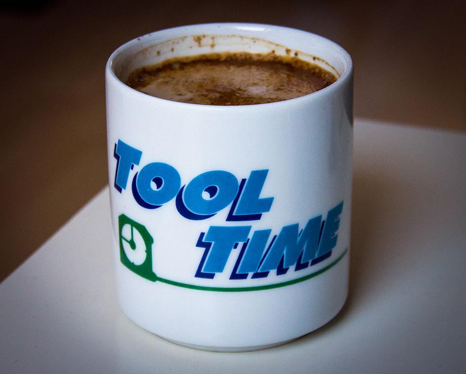 """Tooltime-Tasse mit """"mehr Power"""""""