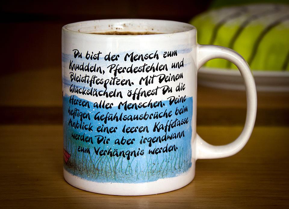"""Diddl-Tasse """"Wassermann"""""""