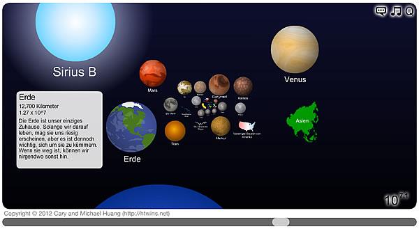 Scale of the Universe 2 (Bildschirmfoto)