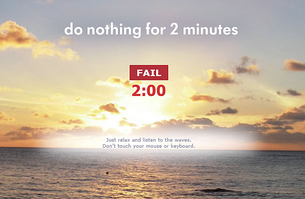 Website: Do Nothing For 2 Minutes (Screenshot) - Einfach nichts tun