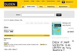 """Duden-Website mit Erläuterungen zu """"dass"""""""