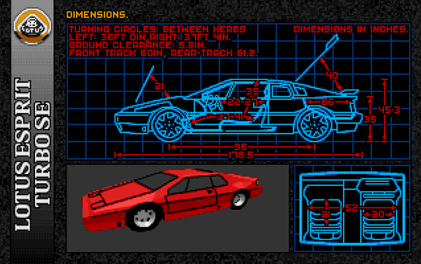 Lotus Esprit Turbo Challenge (Screenshot)
