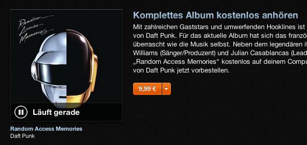 Daft Punk - Random Access Memory - bei Tunes anhören