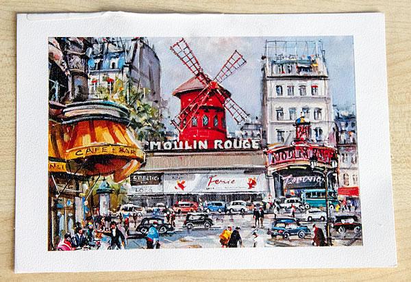 Karte aus Paris (Moulin Rouge)