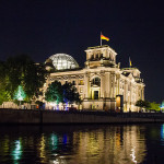 Berliner Reichstag bei Nacht (Rückseite)