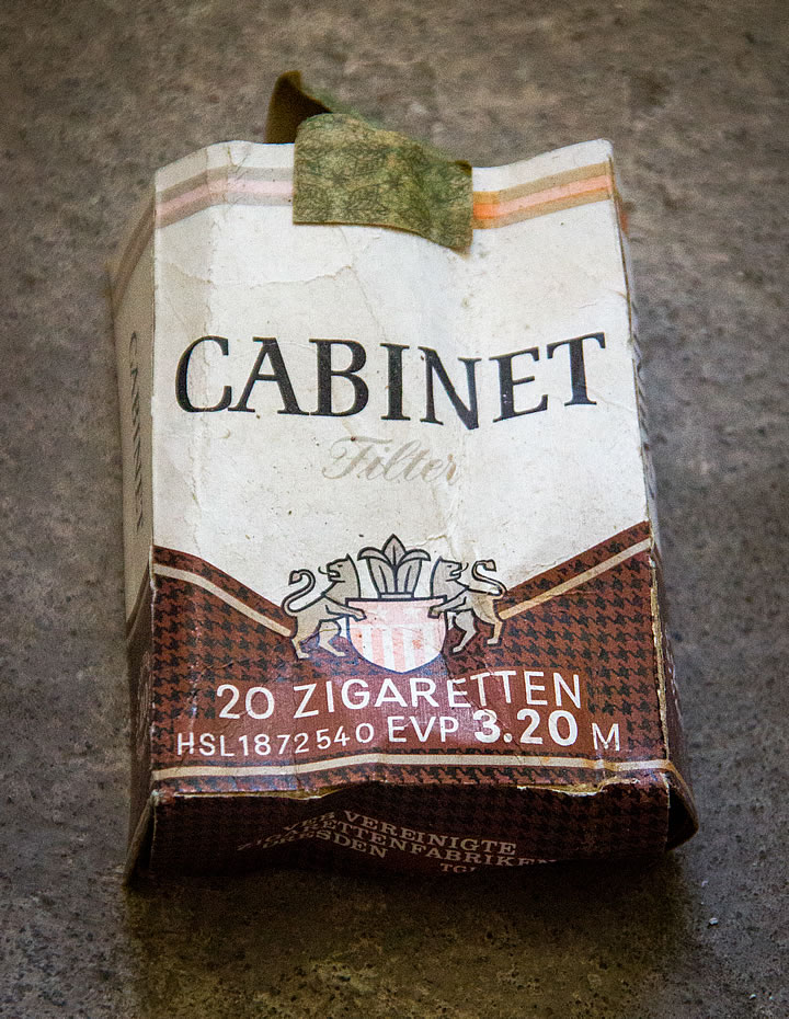 Cabinet Filter (20 Zigaretten) DDR
