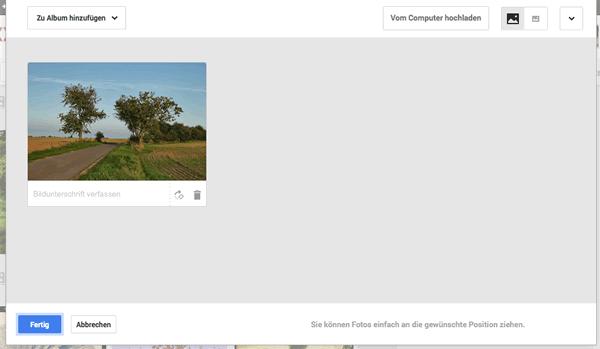 RAW Bilder bei Google Plus hochladen