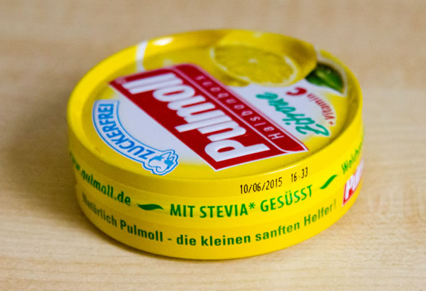 Pulmoll Halsbonbons Zitrone mit Stevia gesüsst