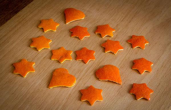 Mandarinen-Schalen Sterne & Herzen