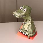 T-Rex Blicke optische Täuschung