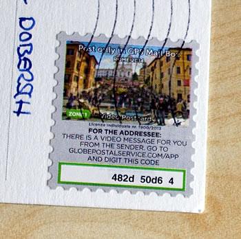 GPS Mail Box App Video-Nachricht Briefmarke