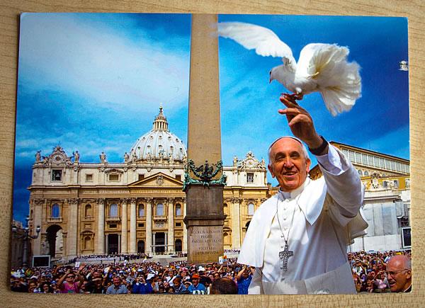 Postkarte Heiliger Vater / Papst aus Rom